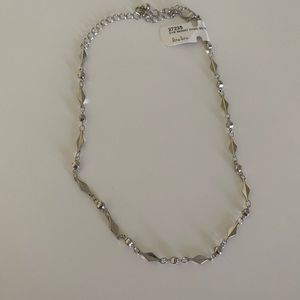 Silver Choker Necklace NWT